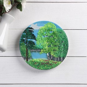 """The panel-plate """"seasons"""" with crushed stone, mix"""