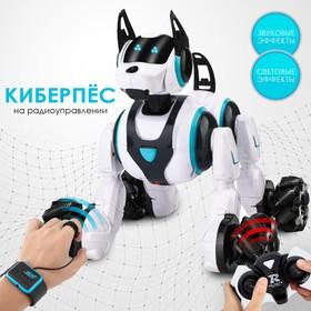 Робот-собака «Кибер пёс», световые и звуковые эффекты, работает от аккумулятора, цвет белый
