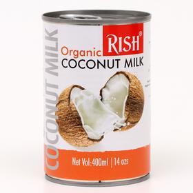 Органическое кокосовое молоко Rish 68%, 400 мл (жирность 17-19%)
