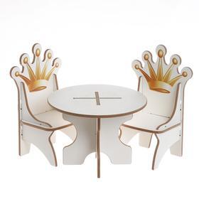 Набор стол + 2 стула серия «Короны»