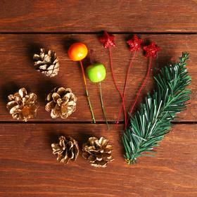 Новогодний декор «Праздничный наборчик» золотой