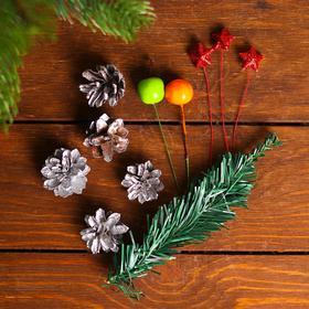 Новогодний декор «Праздничный наборчик» серебряный