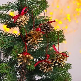Новогодний декор «Праздничный наборчик с лентой» золотой