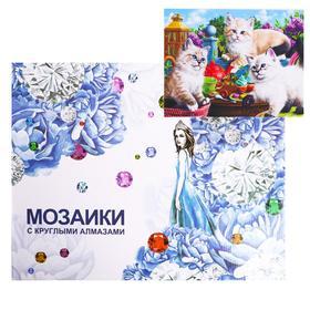 Алмазная мозаика с подрамником, полное заполнение «Милые котята» 40×50 см