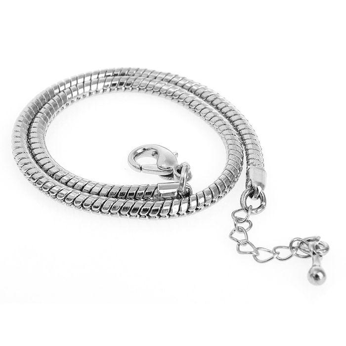 Основа-браслет универсальный 23 см, цвет серебро