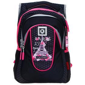 Рюкзак молодежный эргоном.спинка Across G15 43*29*15 дев, чёрн/роз G15-9-4