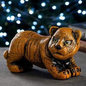 "Копилка ""Тигр"" рыжая, 22х15х10см"