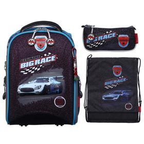 Рюкзак каркасный Across 490 39*29*17 наполн:мешок,пенал,брел, мал Big Race, чер/син
