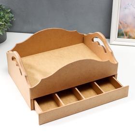 Столик-поднос с ящиком  36.5*27*16.5 см