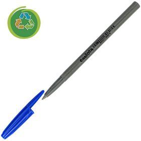 """Ручка шариковая Carioca """"EcoFamily"""", 1.0 мм, чернила синие, картон, с заботой о природе"""