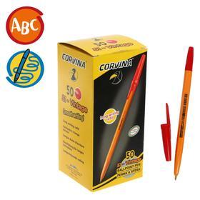 """Ручка шариковая Corvina """"51 Vintage"""" красные чернила, узел 1,0 мм, желтый корпус"""