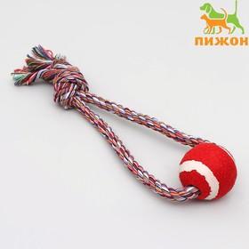 """Игрушка канатная """"Вираж"""" с мячом, до 135 г, до 37 см, микс цветов"""