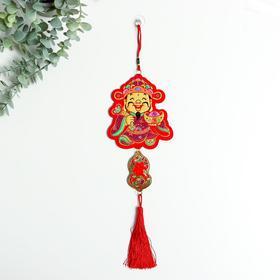 "Панно текстиль ""Китайский старец"" 35 см"