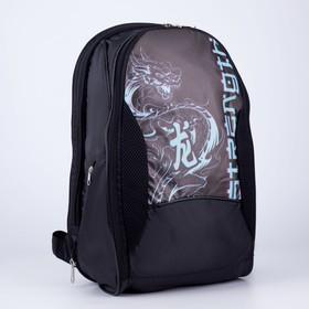 Рюкзак, 2 отдела на молниях, цвет чёрный, «Дракон»