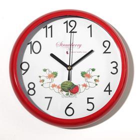 """Часы настенные """"Фрукты"""", дискретный ход, 1 АА, d циферблата=23 см, микс"""