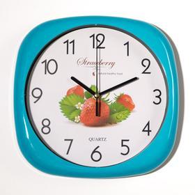 """Часы настенные """"Фрукты"""", дискретный ход, 1 АА, d циферблата=26 см, микс"""