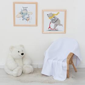 Одеяло-плед, 80х120, белый, капитоний, 270гр/м хл 100%
