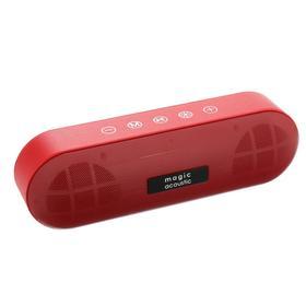 Портативная колонка SK1019R, microSD/USB/AUX,  Bluetooth 5.0, 2 х 5 Вт, 1200 мАч, красная