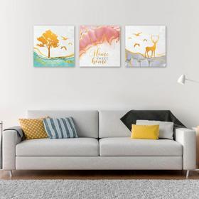 Модульная картина Sweet home, 120 х 40 см