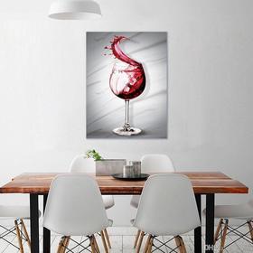 Модульная картина «Бокал вина», 38 х 50 см