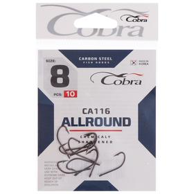 Крючки Cobra ALLROUND CA116, №8 10 шт.