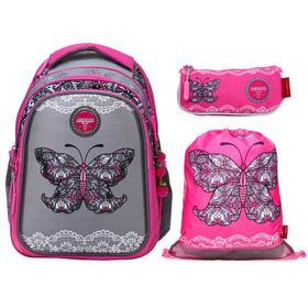 Рюкзак школьный, Across, CH410, 39 х 29 х 17 см, эргономичная спинка, с наполнением: мешок для обуви, пенал, брелок