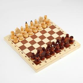 Шахматы обиходные,  29х14.5х4.6, h=3.1-6.7 см, d=2.2-2.4 см