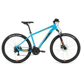 """Велосипед 27,5"""" Forward Apache 3.2 disc, 2021, цвет бирюзовый/оранжевый, размер 21"""""""