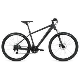 """Велосипед 27,5"""" Forward Apache 3.2 disc, 2021, цвет черный матовый/черный, размер 21"""""""