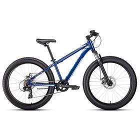 """Велосипед 24"""" Forward Bizon mini, 2021, цвет синий, размер 13"""""""