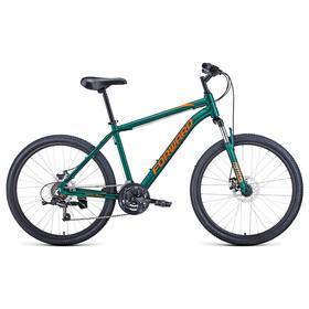 """Велосипед 26"""" Forward Hardi 2.1 disc, 2021, цвет зеленый матовый/оранжевый, размер 18"""""""