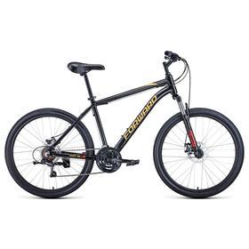 """Велосипед 26"""" Forward Hardi 2.1 disc, 2021, цвет черный/желтый, размер 18"""""""