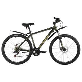"Велосипед 27,5"" Stinger Caiman D, цвет зеленый, размер 16"""