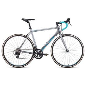 "Велосипед 28"" Forward Impulse, 2021, цвет серый матовый/бирюзовый, размер рамы 540 мм"