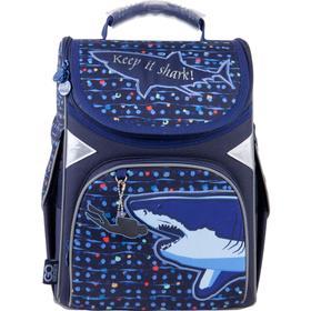 Ранец Стандарт GoPack 5001S 34*26*13 мал Shark, синий GO21-5001S-9