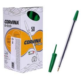 """Ручка шариковая Corvina """"51 Classic"""" зеленые чернила, узел 1,0 мм, прозрачный корпус"""