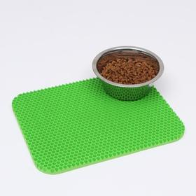 Коврик для животных универсальный, прямоугольный, 27 х 34 см, зелёный