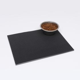 Коврик для животных универсальный, прямоугольный, 35 х 45 см, серый