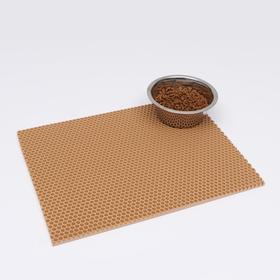 Коврик для животных универсальный, прямоугольный, 35 х 45 см, бежевый