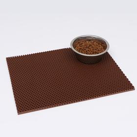 Коврик для животных универсальный, прямоугольный, 35 х 45 см, коричневый
