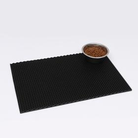 Коврик для животных универсальный, прямоугольный, 40 х 60 см, черный