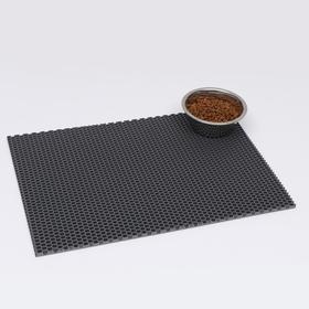 Коврик для животных универсальный, прямоугольный, 40 х 60 см, серый