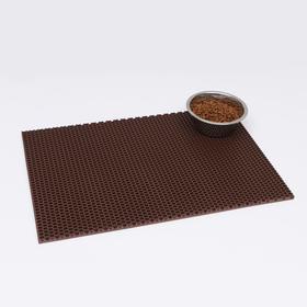 Коврик для животных универсальный, прямоугольный, 40 х 60 см, коричневый
