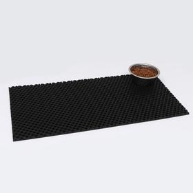 Коврик для животных универсальный, прямоугольный, 40 х 80 см, черный