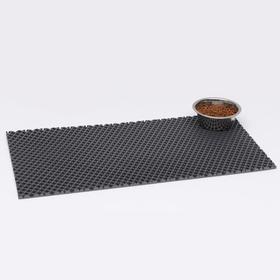 Коврик для животных универсальный, прямоугольный, 40 х 80 см, серый