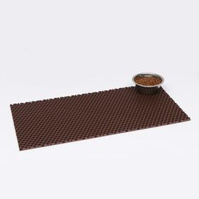 Коврик для животных универсальный, прямоугольный, 40 х 80 см, коричневый
