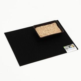 Коврик для животных универсальный, прямоугольный, 60 х 80 см, черный