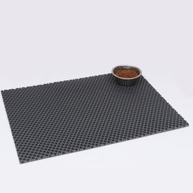 Коврик для животных универсальный, прямоугольный, 60 х 80 см, серый
