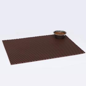 Коврик для животных универсальный, прямоугольный, 60 х 80 см, коричневый