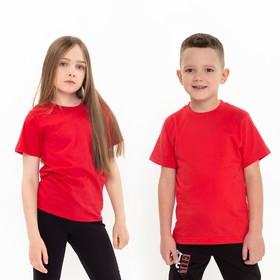 Футболка детская, цвет красный, рост 104 см